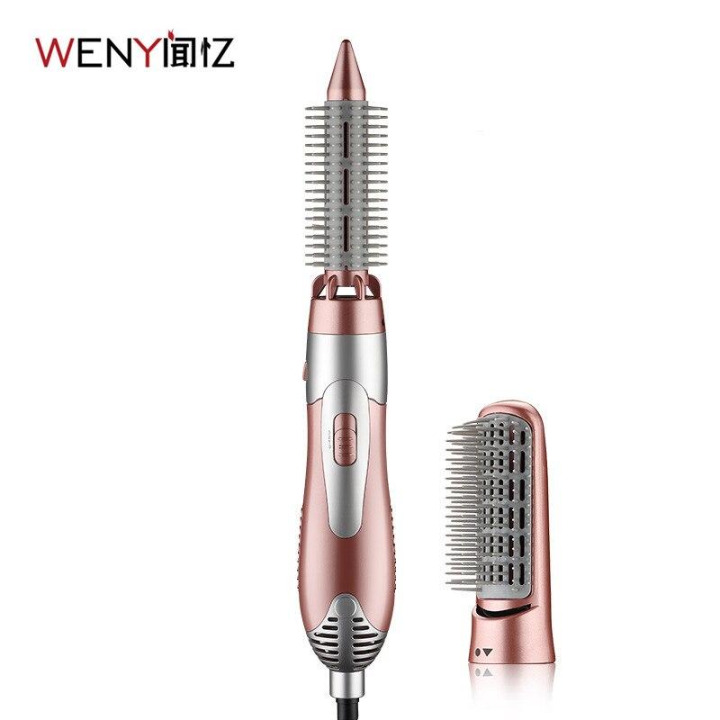 WENYI 220-240 V de Cabelo Elétrico de Curling Ferros Modelador de Cabelo Máquina de Secador de cabelo Escova Pente Alisador Modelador de cabelo Styling Ferramenta