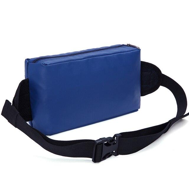 Saco da cintura saco pacote de cintura travesseiro poliéster correia running à prova d' água bolsa de moda das mulheres dos homens crossbody ombro peito