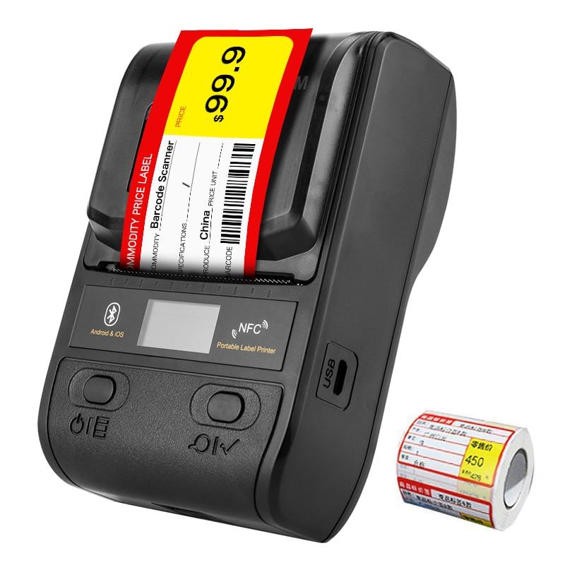 Imprimante à étiquettes thermiques NETUM Bluetooth Mini imprimante à reçu Portable 58mm petite pour téléphone Portable Ipad Android/iOS NT-G5