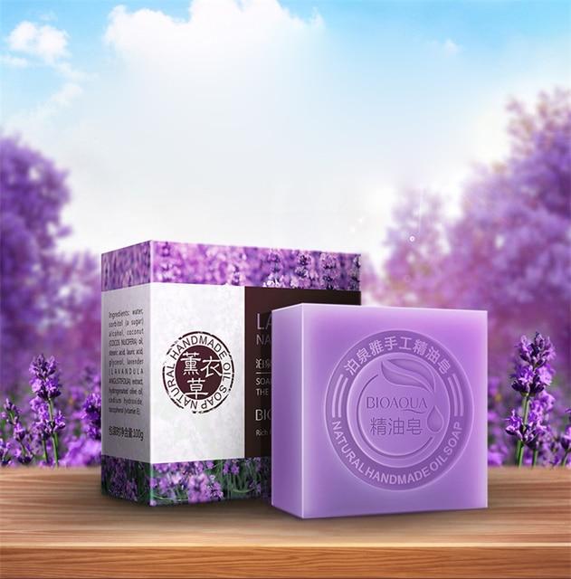 BIOAQUA Lavender Bamboo Charcoal Matcha Moisturizing Essential Oil Handmade Soap Deep Cleaning Brighten Skin Face Care Bath Soap 4
