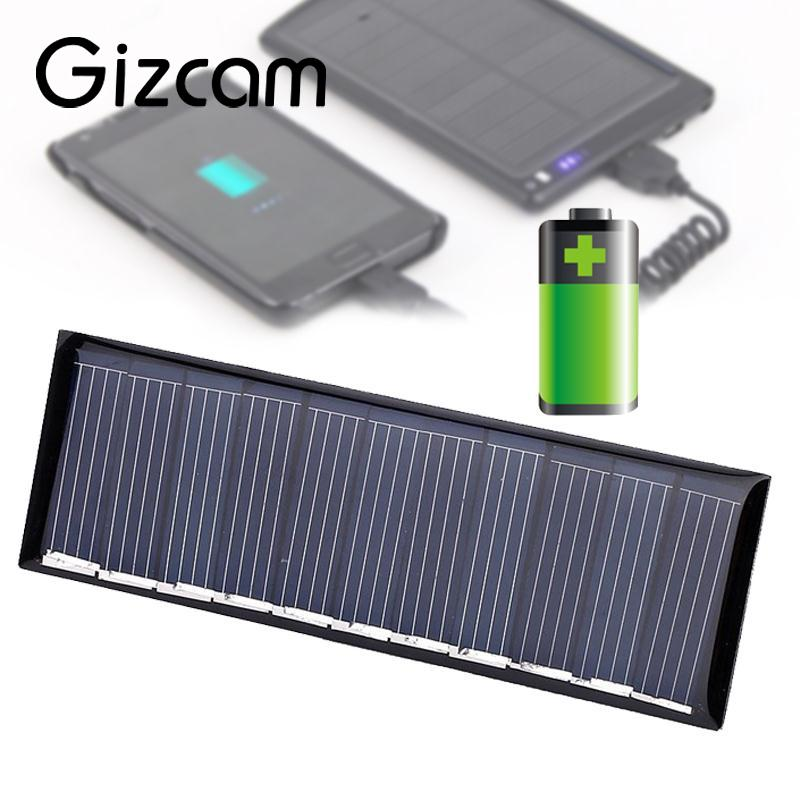 Gizcam Universal 5.5V 50mA 0.45W Polysilicon Solar Panel Portable DIY Solar Power Cell Charger Module For phone Mp3 Mp4