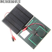BUHESHUI 3.5W 18V Solar Cell Polycrystalline Solar Panel+Crocodile Clip For Charging 12V Battery Solar Charger 165*135*3MM