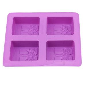 Image 3 - Party Dessert Silicone Mold Tree Shape 4 Hole Square Soap Mold Crafts Chocolate Cake Molding Handmade Tools