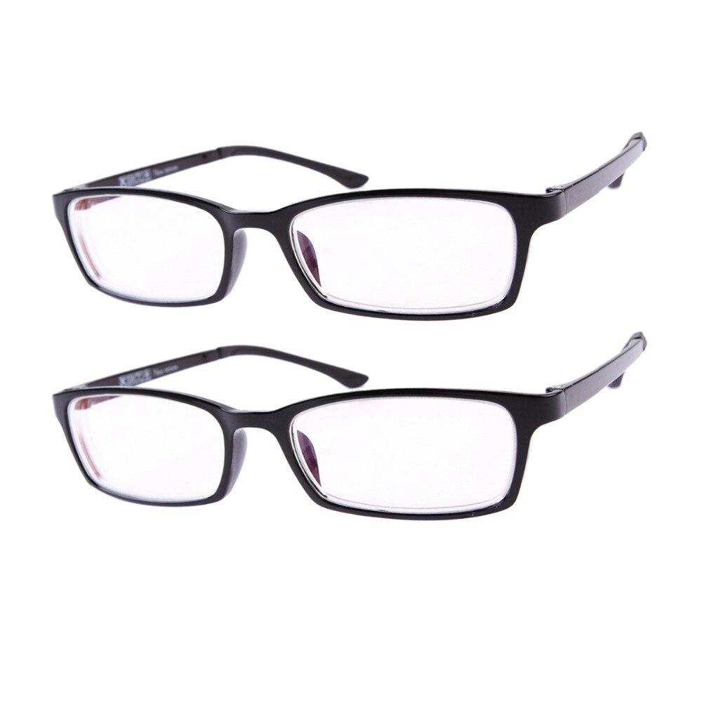 21336e79b9 2 par Set miopía-1,0 a-6,0 para mujer para hombre Eyewear Nearsighted  distancia negro marco miope gafas graduadas
