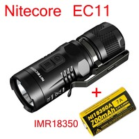 NITECORE EC11 Mini EDC 900 lumens CREE LED Mini Flashlight Torch with Red Light with imr 18350 battery Not Battery