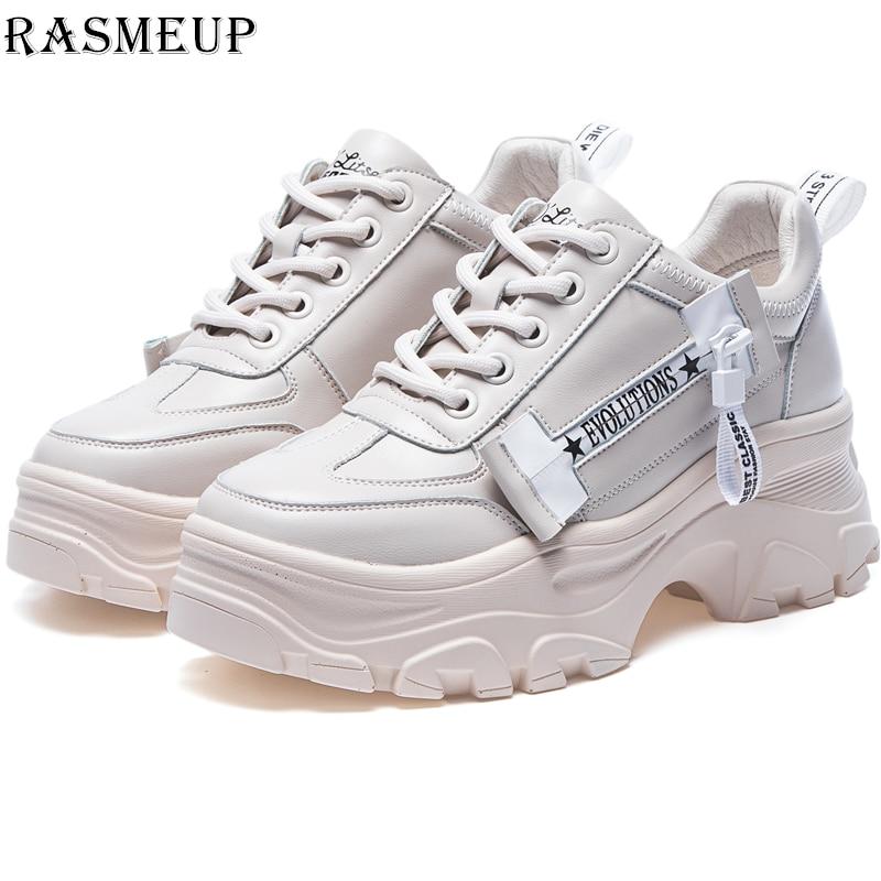 ac324cbb3d8 US $33.63 36% OFF RASMEUP Women's Chunky Sneakers 2019 Spring Platform  Women Sneaker Fashion Street Style Woman Trainers Shoes Ladies Footwear-in  ...