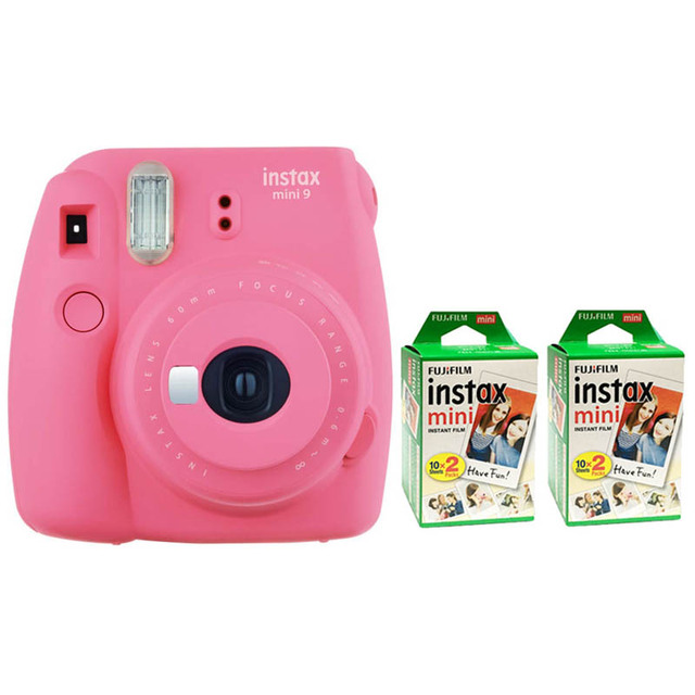 Fujifilm Instax Mini 9 Instant Printing Digital Camera With 40 Sheets Twin Pack Fuji Film Photo Paper for Mini 8 7s 25 50s 90