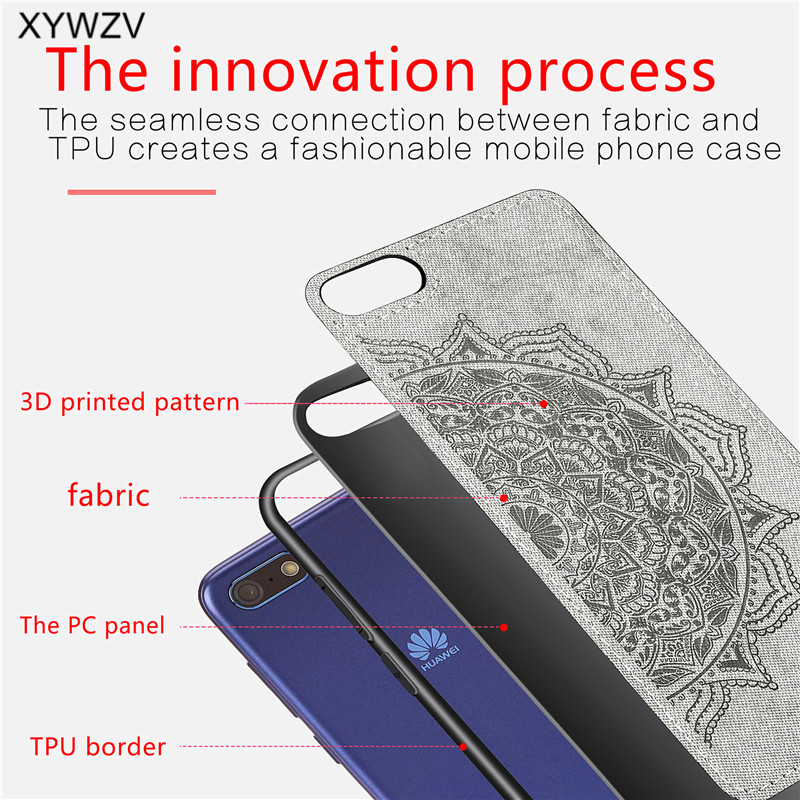 Image 5 - Huawei Y5 Prime 2018 Case Shockproof Soft Silicone Luxury Cloth Texture Phone Case For Huawei Y5 Prime 2018 Cover Huawei Y5 2018-in Fitted Cases from Cellphones & Telecommunications