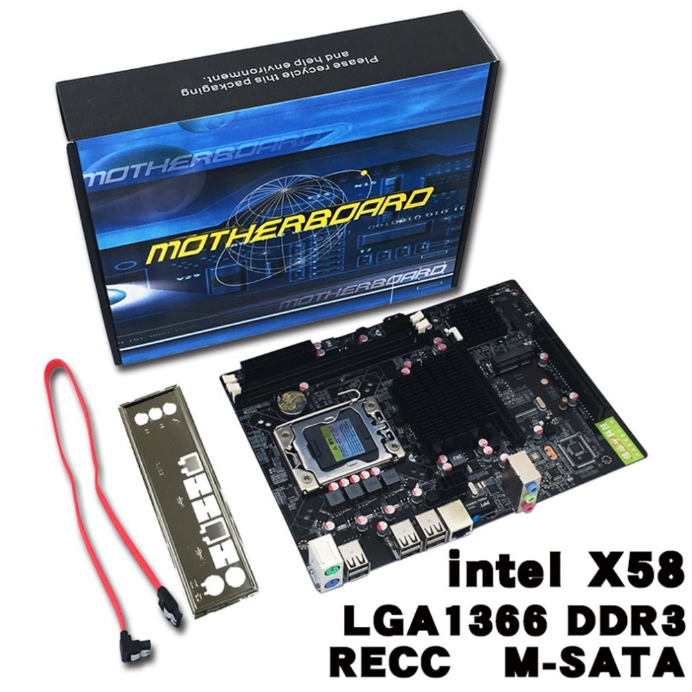 Professional Desktop Computer Mainboard X58 Board LGA 1366 Pin ECC All Solid Motherboard Support L/E5520 X5650 mei wan and cherry universal hood board computer board control panel compatible with all brands of range hoods all