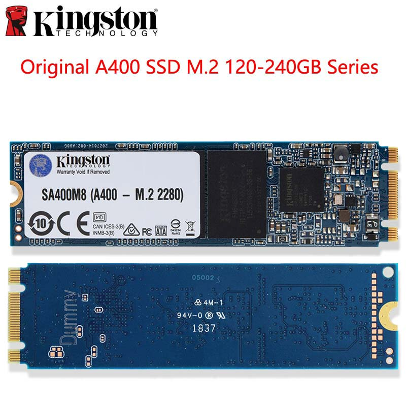 Original Kingston SSD Drive de Estado Sólido Interno A400 M.2 2280 120 GB 240 GB de Disco Rígido HDD HD SSD Para laptop Dropshipping