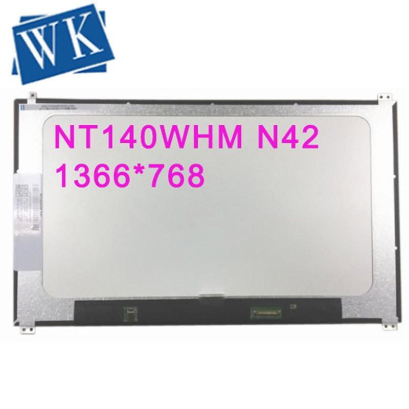 Free Shipping 14''inch NT140WHM N42 NT140WHM-N42 Laptop LCD Screen 1366*768