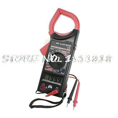 LCD Display AC DC Multimeter Electronic Tester Digital Clamp Meter Red Black dt9205a lcd display multi fuction digital multimeter tester ac dc black