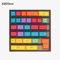 pbt dsa keycap dye subbed colorful keycaps modifier for diy gaming  mechanical keyboard cherry switch