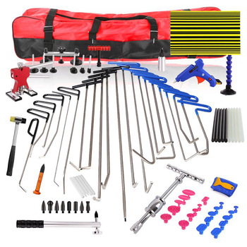 WEYHAA PDR Rod Hooks  Car Dent Remover Kit PDR Tools Dent Lifter Paintless Dent Hail Removal Repair Tools Glue Gun stainless steel 2 in 1 pdr slide hammer tools kit pdr hand tools sheet metal tools car body repair tools pdr 166