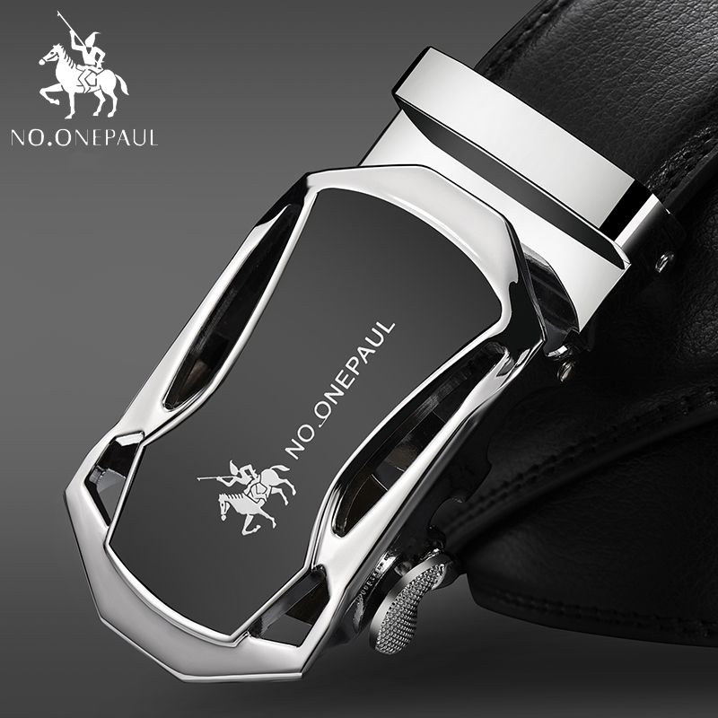 NO.ONEPAUL For Mens Automatic Buckle Belts Fashion Designer Luxury Brand Male Waist Strap High Quality Men Genuine Leather Belt