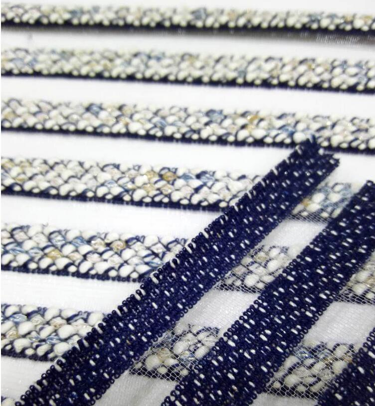 20S Worsted silver transparent dyed striped fabric,patchwork