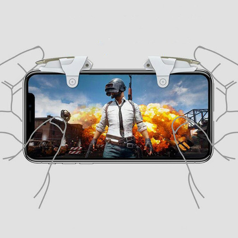 New PUBG Mobile Game Controller Gamepad Trigger Aim Button L1 R1 Shooter Joystick For IPhone Android Phone Game Pad Accesorios Multan