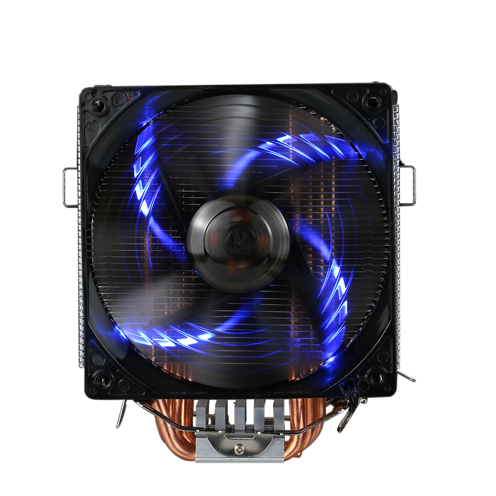 PCCOOLER 5 Heatpipes Radiator Quiet 4pin CPU Cooler Heatsink Fan Cooling with 120mm LED Fan for Desktop Computer 4 pin sleeve bearing blue led light computer pc fan heatsink cpu cooler cooling fan heatsink