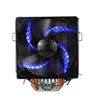 PCCOOLER 5 Heatpipes Radiator Quiet 4pin CPU Cooler Heatsink Fan Cooling With 120mm LED Fan For