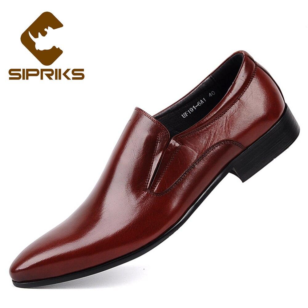 sipriks mens burgundy dress shoes mens slip on black