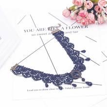 Vintage Drop Lace Choker Necklace