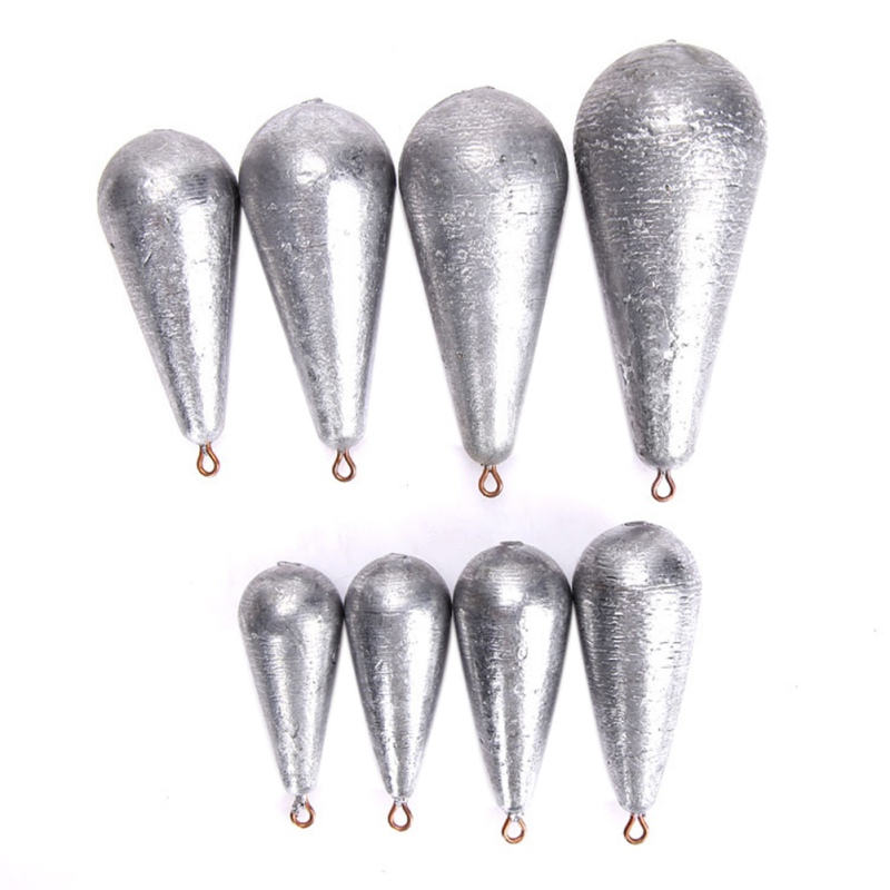 Hot 5pcs Weight Size 10g/15g/20g/30g/40g/50g/60g/80g/100g Water Droplets Lead Weights Fishing Lead Sinkers Fishing Accessories