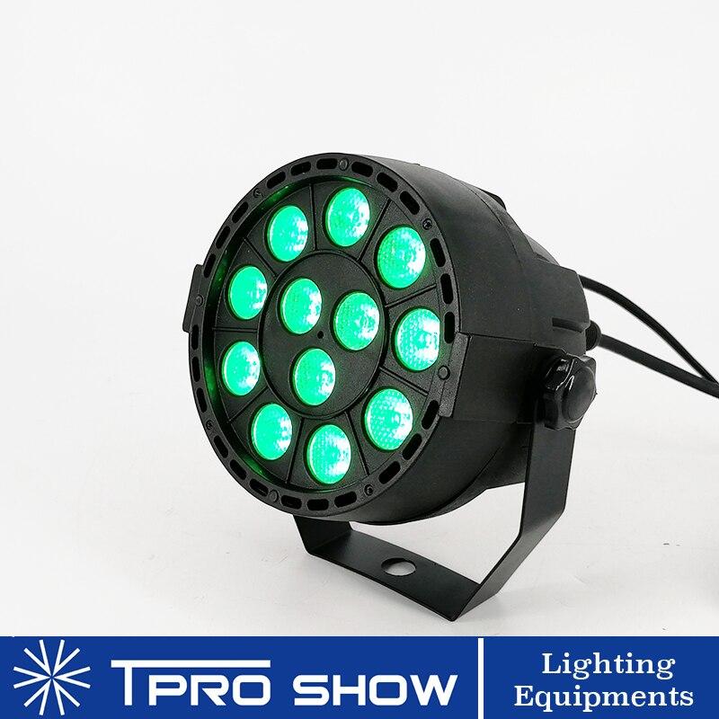 Poche 12x3W LED Par RGB 3in1 tricolore DJ LED lumière de scène Dmx 512 contrôle musique activé projecteur de lumière pour les lumières de fête à la maison