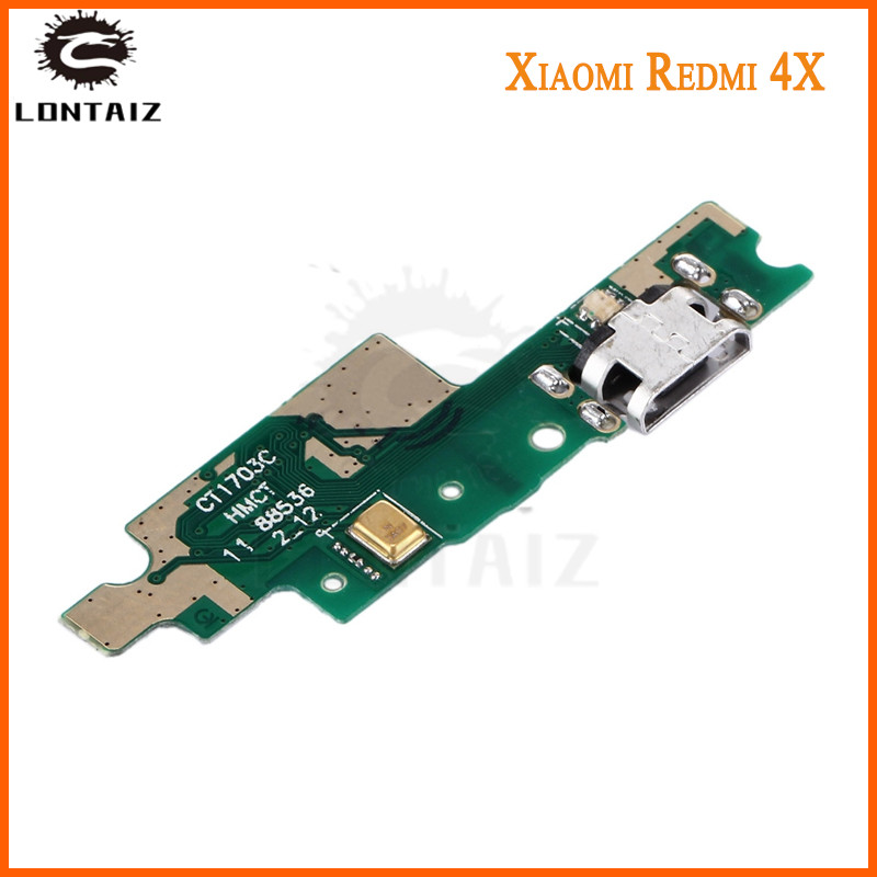 For Xiaomi Redmi 4X Micro USB Board Plug Charge Port Dock Connector Flex Cable Microphone Board