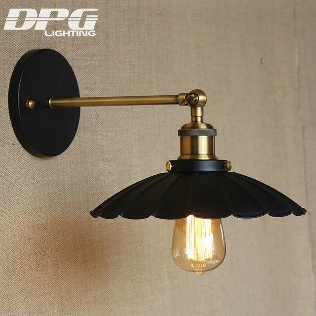 Loft Vintage Moderne Mur Led Lampe Antique lumi¨res Noir Fleur