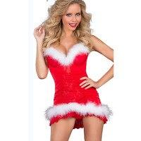 2016 christmas women sleepwear sexy lingerie female siling dress patchwork chemise nightwear hot sale erotic lingerie babydolls