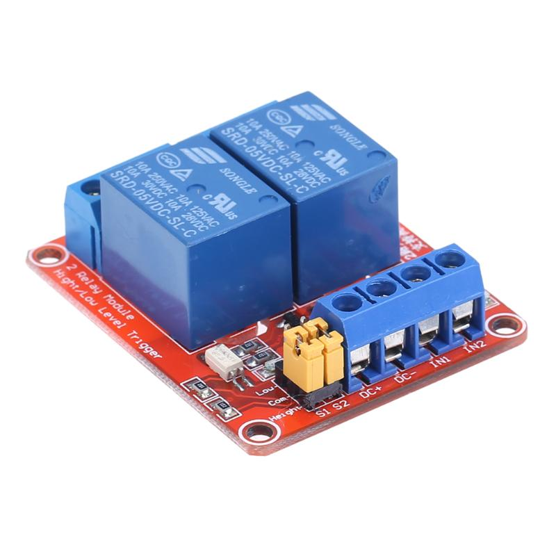 2 Channel 5/9/12/24V Relay Module Board Shield With Optocoupler Support High And Low Level Trigger Power Supply Module relay shield v2 0 5v 4 channel relay module