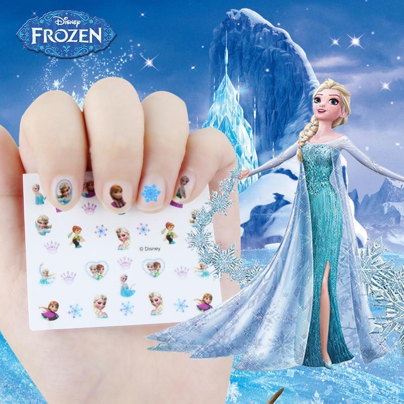 New Frozen Elsa And Anna  Nail Stickers  Makeup Toy  Disney Sofia Princess Girls Snow White Sticker Toys For Girlfriend Gift