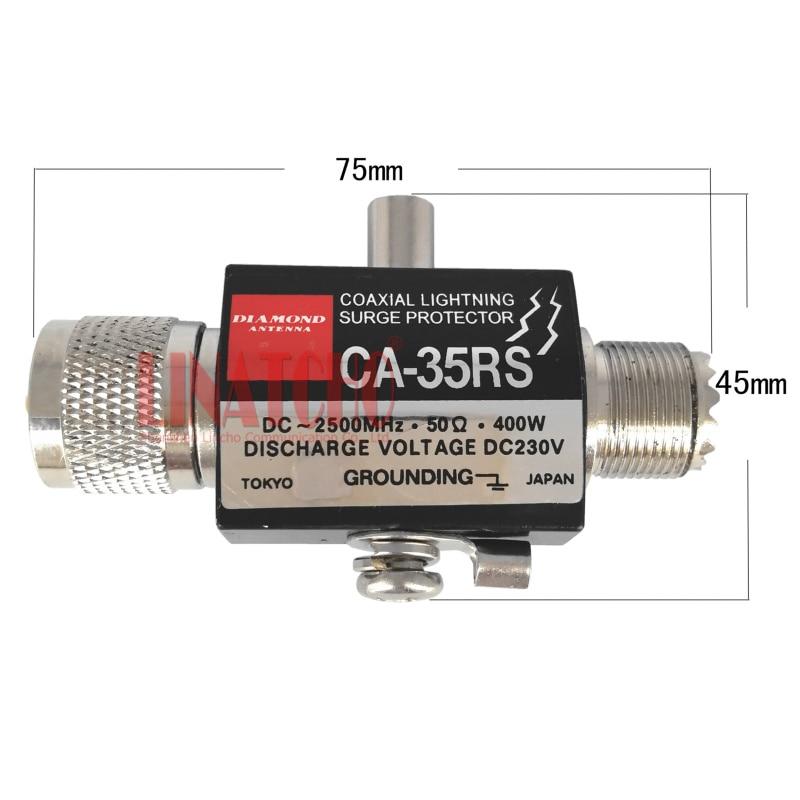 PL259 SO239 connecteur à deux voies radio répéteur coaxial foudre antenne extérieure parasurtenseur