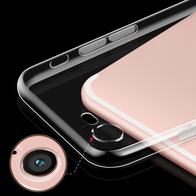Lujo transparente clear case para apple iphone iphone 7 iphone 7 Plus Gel de Síl