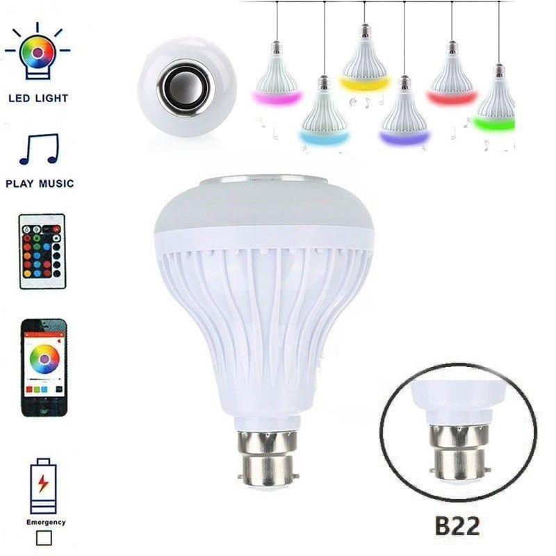 E27 B22 Wireless Bluetooth Speaker 12w Rgb Bulb Led Lamp