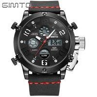 Gimto Brand Waterproof Fashion Watch Men Sport Analog Quartz Watch LED Digital Electronic Watches Relogio Masculino