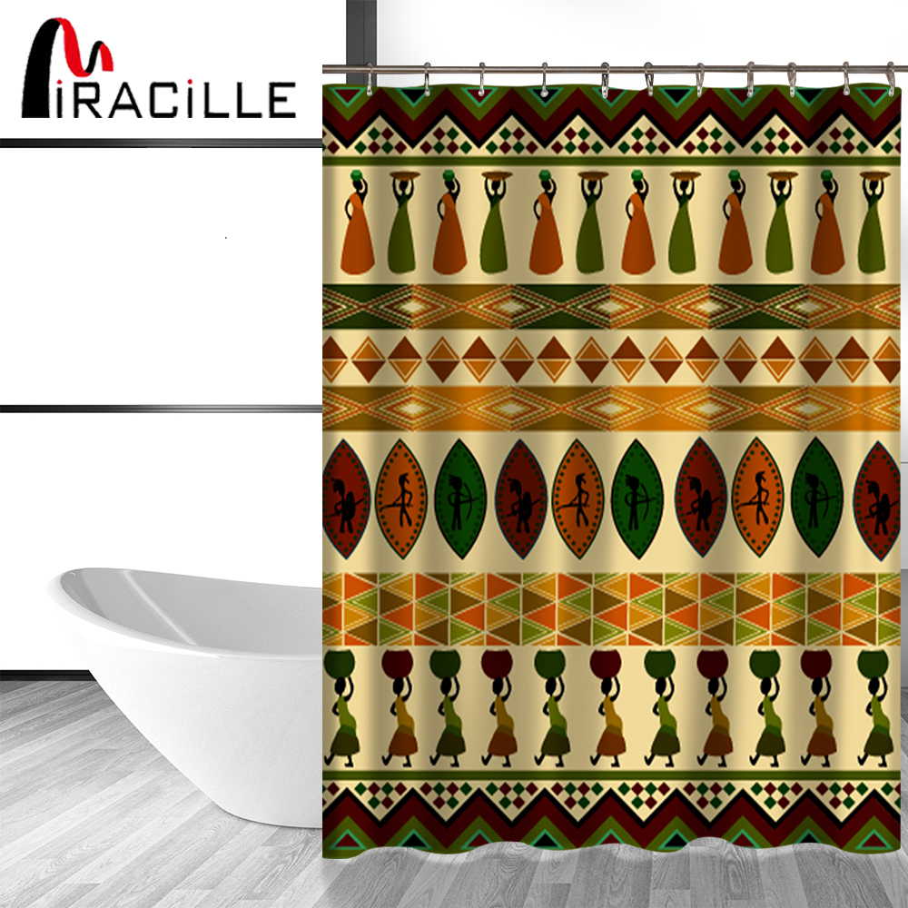 African Home Decor By 3rd Culture: Miracille African Culture Shower Curtain Home Decor Ethnic