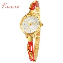 KIMIO Reloj Mujer 2016 Marque Parti Date Femme Montres De Luxe De Mode Or Bracelet Bande Quartz-Montre Montre Femme Montre-Bracelet 536