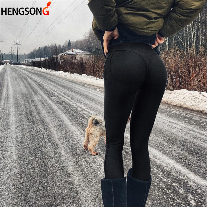 2018 Women Fashion Gothic Push Up Ladies Pants Love Heart Black   Leggings   Casual Pants High Waist Sexy   Leggings