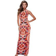 Women Summer Maxi Dress  Bodycon Party Dresses Plus Size Printed Vestidos Sexy Sundress Sleeveless Dashiki Boho Long Dress New