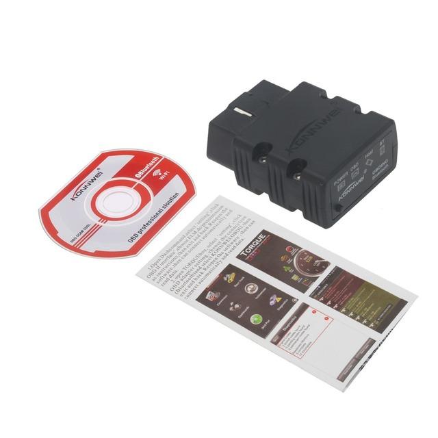 Super Mini ELM 327 Bluetooth OBD2 KW902 OBD-II Car Auto Diagnostic Scan Tools Code Reader Tool Detector