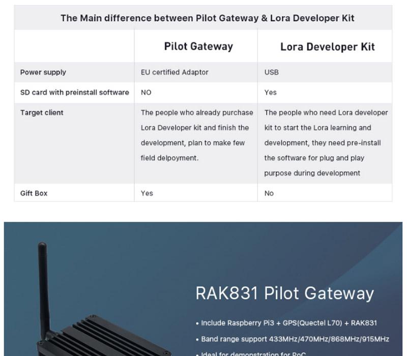 HOT SALE] RAK831 Pilot Gateway Raspberry Pi3 Converter Board