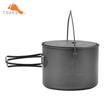 TOAKS Picnic Cookware Ultralight Titanium Haning Pot Outdoor Camping Haing Pot 1600ml With Titanium Cover Titanium Cup