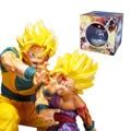 18 cm dragon ball z son goku gohan goku filho pai e filho wave attack figura de ação do pvc brinquedos presentes