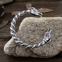 1pc Handmade Norse Viking Dragon Bangles Bracelets