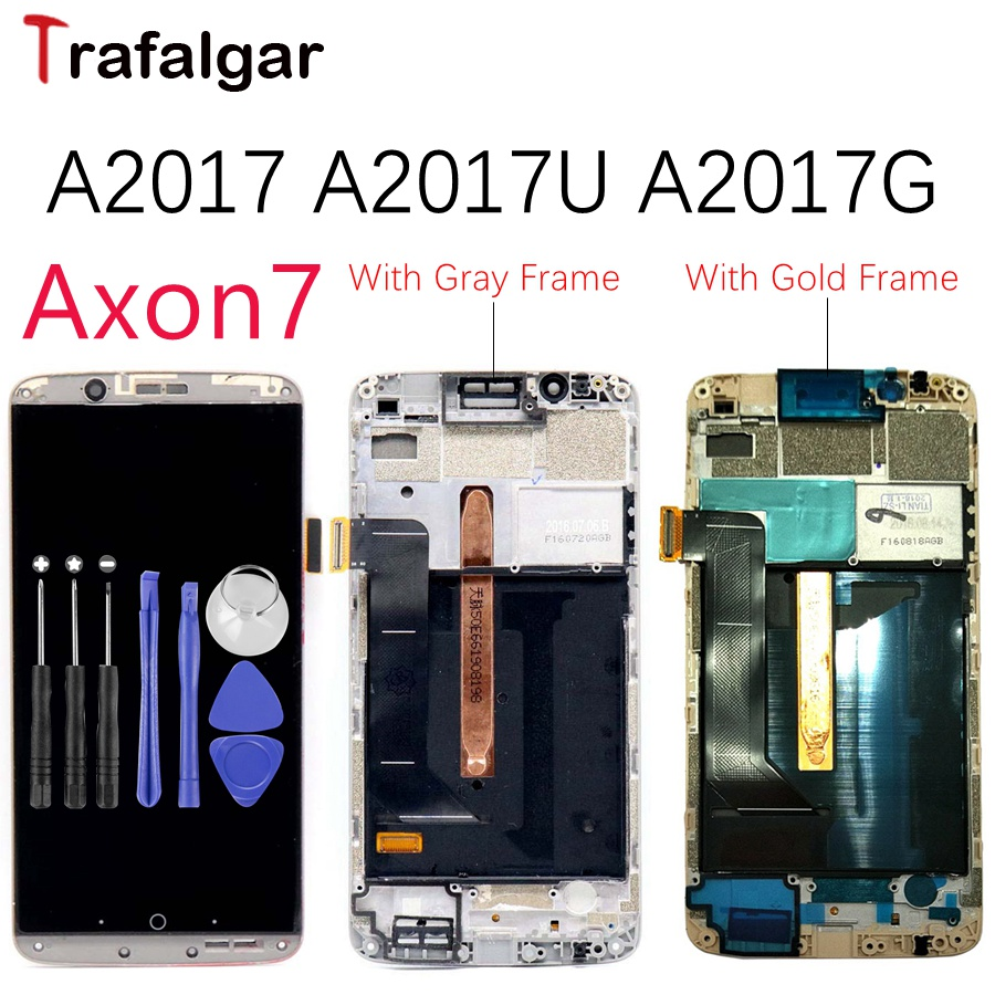 AMOLED Screen For ZTE Axon7 Axon 7 LCD A2017 A2017U A2017G Display Touch Screen Digitizer Aseembly