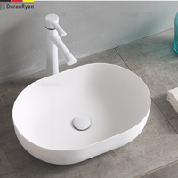 Artificial stone oval lavabo thin edge household matt wash basin wash basin artistic stage basin