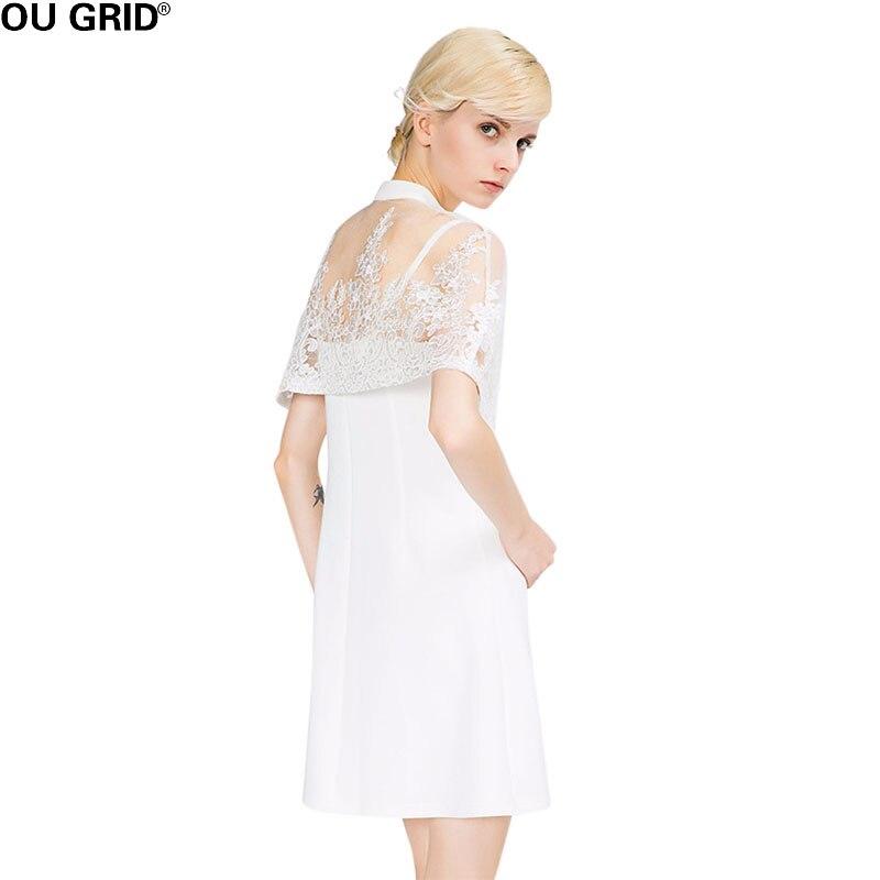 ligne De Sexe Manches White Voir Arrivée Printemps Courte Court 2018 Femmes Robe Mode Dentelle Manteau Mini À Nouvelle Travers Été Blanche A WWn18Uv
