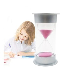 Sand Timer Security Fashion Silver cover Hourglass 15 Minutes Sand Clock for Children creative home decoration