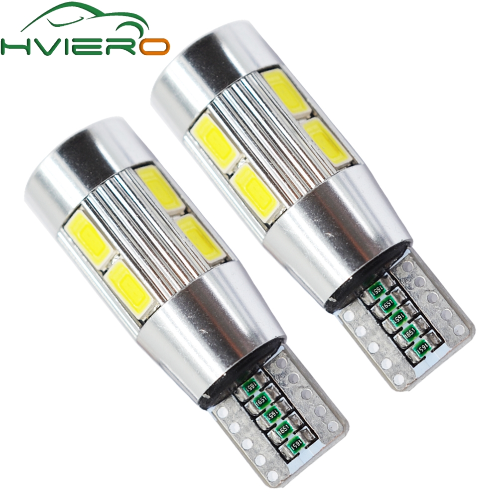 Car Auto LED T10 Canbus 194 W5W 10 SMD 5630 5730 LED Light Bulb No Error LED Light Parking T10 LED Car Side Light Car Styling 2x t10 w5w 168 194 canbus no error cree chip led car auto drl replacement clearance light parking bulbs lamps car light source